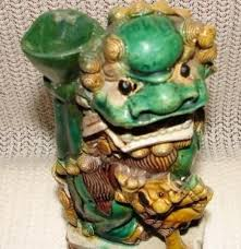 foo dog for sale kangxi period foo dog with jos stick for sale antiques