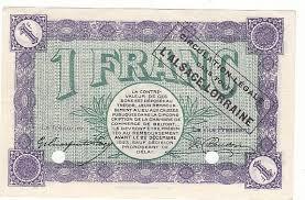chambre du commerce belfort 1 franc 21 d2c 1918 chambre de commerce belfort 1918 specimen p neuf
