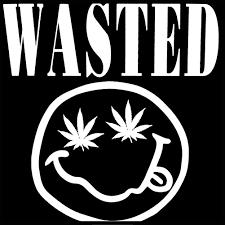 Black Flag Wasted Wasted Pot Leaf Smiley Face Men U0027s T Shirt
