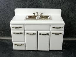 Dollhouse Kitchen Sink by Dolls House Furniture White Wood 1950 U0027s Kitchen Unit Double Sink