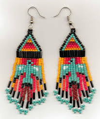 435 best beadwork earrings images on pinterest native beadwork