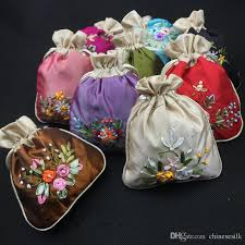 small favor bags handmade ribbon embroidery patchwork small favor bags drawstring