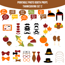 instant download thanksgiving 2 printable photo booth prop set