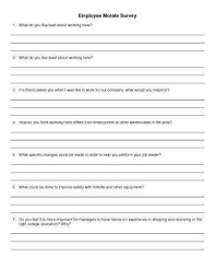 employee morale surveys 30 sample survey templates in microsoft