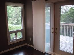 Wooden Patio Door Blinds by Furniture Window Shades On White Wooden Patio French Door As Well
