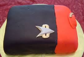 my star trek uniform cake between the pages