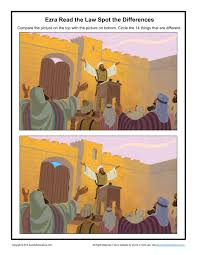 Ezra Read The Law Spot The Differences Children U0027s Bible