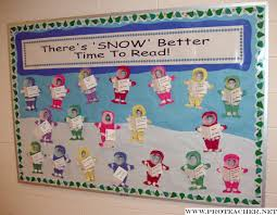 this is a idea for a winter bulletin board display that