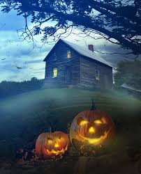halloween haunted house background images only 25 00 portrait clothbackdrops for photography pumpkin