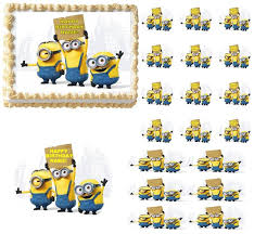 minions cake toppers minions edible cake topper image frosting sheet edible party images