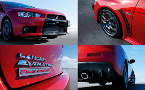 mitsubishi evolution 10 mitsubishi lancer evolution x final edition revealed for japan