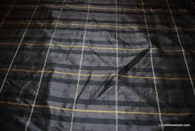 Black Drapery Fabric Beacon Hill Gilatzer Plaid Black Gray Tan Checker Square Dupioni