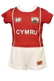 welsh cymru baby kids u0027bryn u0027 cooldry wales rugby football kit red