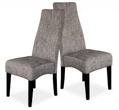 High Back Chairs For Dining Room Furniture High Back Dining Chairs New Grey Fabric Upholstered