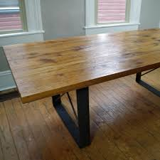 Harvest Dining Room Table Hand Made Rustic Harvest Dining Table Oak With Metal Legs By