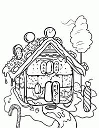 the incredible gingerbread house coloring page for house cool