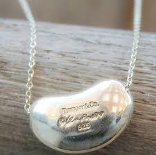 vintage silver pendant necklace images Vintage tiffany elsa peretti bean pendant necklace gold west vintage JPG