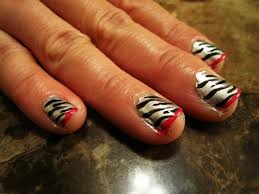 short acrylic nail zebra designs nails gallery