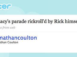 thanksgiving parade gets a live rickroll cnet