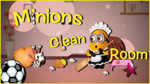 watch and play cute minions clean room video cleaning games