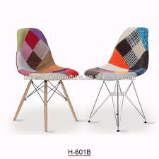 pc 15 italian design colored patchwork dining chair fabric