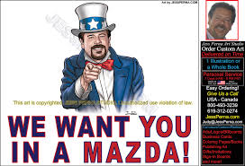 mazda car sales 2015 ad cartoons and caricatures freelance american illustrator june