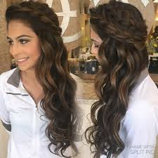 down style summer spring wedding boho braids big braids down