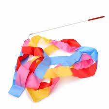 ribbon for hair that says gymnastics new arrival 4m dance twirling ribbon rod gym rhythmic art