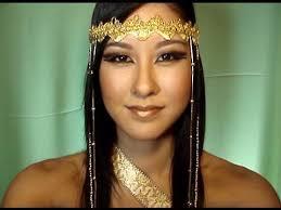 Egyptian Princess Halloween Costume Egyptian Queen Makeup Tutorial Diy Headdress Bvc Musicals