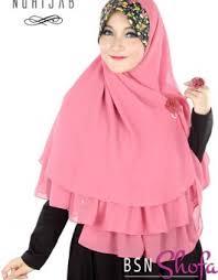 model jilbab model jilbab terbaru nuhijab bsn shofa pink grosir jilbab