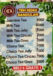 Teh Bandulan teh bandulan royal plaza di surabaya menu daftar harga teh