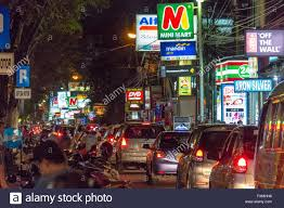 legian street kuta bali indonesia stock photo royalty free