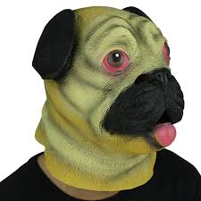 amazon com novelty deluxe latex rubber creepy dog head mask