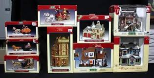 lemax lighted boxed christmas village collection qty 9pcs includes