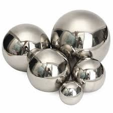 mirror garden home sphere ornaments stainless steel gazing hollow