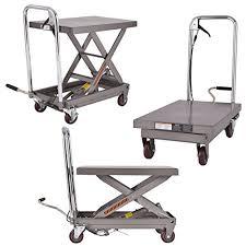 500lb rolling table cart lift scissor hydraulic cart elevating w