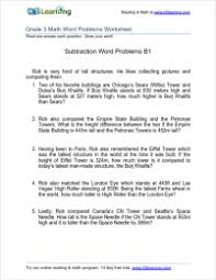 subtraction word problems third grade subtraction word problem worksheets k5 learning