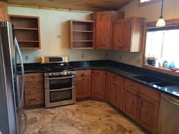 Alder Cabinets Steel Grey Granite With Rustic Alder Cabinets Custom Home Accents