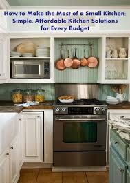 interior solutions kitchens how to make the most of a small kitchen simple affordable