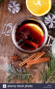 Cloves Christmas Drink With Orange Fruit Anise Cinnamon And Cloves On