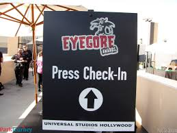 halloween horror nights hollywood hours halloween horror nights celebrates opening night with the eyegore