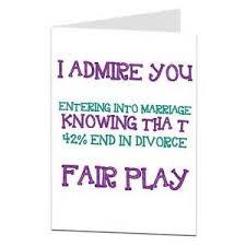 congratulations wedding card wedding card congratulations humour 42 end in divorce ebay