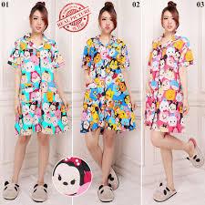 Baju Tidur cj collection terusan dress pendek daster baju tidur piyama wanita