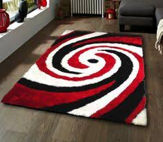 Black And Red Shaggy Rugs Attractive Inspiration Red Black And White Rug Unique Ideas Red