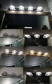modern k9 crystal led bathroom make up mirror light cool white