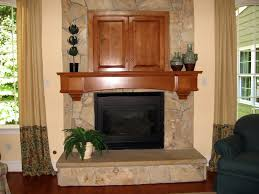 Stone Fireplace Mantel Shelf Designs by Fireplace With Shelves From Custom Wooden Built In Ceiling Lights