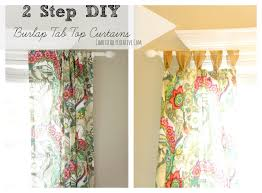 Tab Curtains Pattern Easy Tab Top Curtain Panels Chaotically Creative