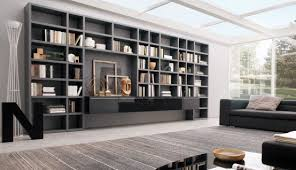 livingroom shelves to use living room walls to create modern shelves