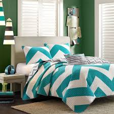 Gray Chevron Bedding Turquoise And Grey Chevron Bedding Home Design Ideas