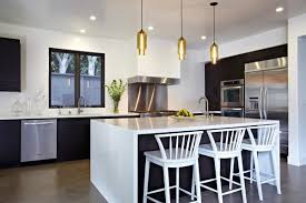 kitchen design and decoration using round clear glass modern